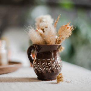 Duo mini-vases Horezu marrons