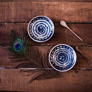 Duo de soucoupes à café Ioana