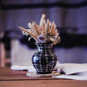 Vase Aura bleu marine