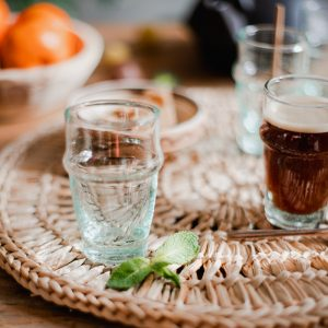 Petit verre Beldi turquoise