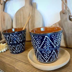 Tasses à café bleues Corund